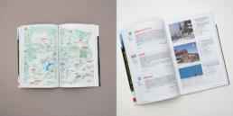Guide buvette, double page, plan et fiches présentations buvettes