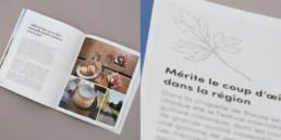 guide suisse romande, graphisme, mise en page livre, illustration double page