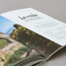 guide activité et loisirs, layout, double page, titre typographie calligraphie