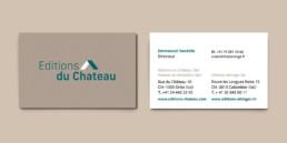 Identité visuelle, éditions du château, carte de visite, logo