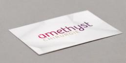 Logo, amethyst chirurgie, carte de visite