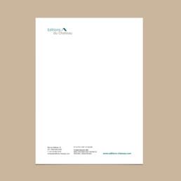 Papier à lettre, domaine édition, création bureau de graphistes à Orbre