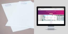 papier à lettre et site web, domaine chirurgie