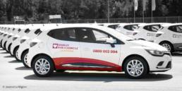 Graphisme, application logo sur véhicule.