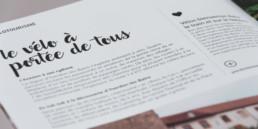 Encart texte, brochure tourisme région nord-vaudois. Graphisme typographie script