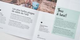 brochure graphisme double page pictogramme encart mise en page