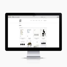 Logo et site internet pour maison d'édition réalisé par atelier de graphisme orbe. Page des livres.