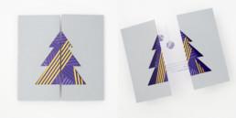 carte de fête Noel, impression 3 pantones, détail