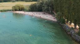 Ville Yverdon-les-bains, photo plage, projet vidéos, shooting par drone