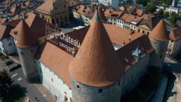 Photo avec pictogramme et texte, illustrant Château savoyard