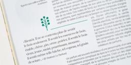 Atelier de graphisme Zaniah, domaine botanique, exergue