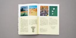 Atelier de graphisme Zaniah, domaine botanique, mise en page texte