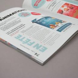 Page article animations en ville, création graphique, choix couleurs, typographie et texte