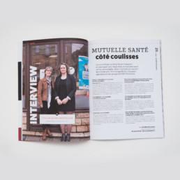 Article santé, double page, magazine imprimée, papier non-couché, créeation graphique, Zaniah à Orbe, Suisse