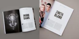 Editeur magazine, articles, titres et textes