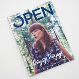 Couverture, édition magazine lifestyle imprimé, photo et texte