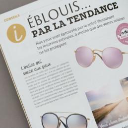 magazine, page tendance, détail choix typographie, région yverdon-les-bains