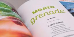 Graphisme, choix couleur, image et typographie, détail page recette