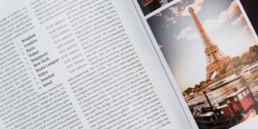 Magazine, print design, mise en page de photographies et textes