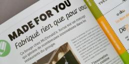 Presse papier, titre, sous-titre et chapeau détail article. Graphisme atelier Zaniah, région yverdon-les-bains