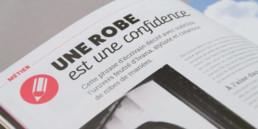 magazine o-doo, page metier, choix graphique, titre et chapeau