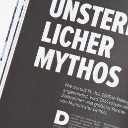 Graphisme, mise en page, titre, langue, allemand