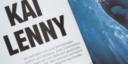 Mise en page par graphiste, titre, langue, allemand