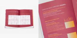 Cahier exercice, mise en page, texte, couleur