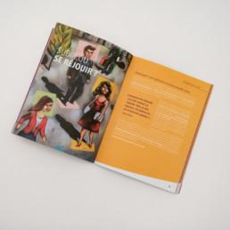 Cahier exercice, image, mise en page, texte, couleur