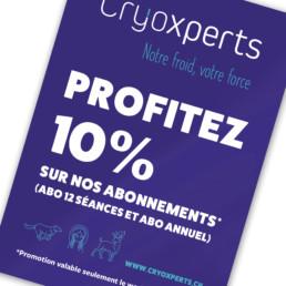 Flyer promotionnel, format a6, logo et layout réalisé par graphiste, région Yverdon-les-bains