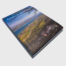 Couverture carte panoramique Yverdon-les-bains région. Projet par graphistes à Orbe.