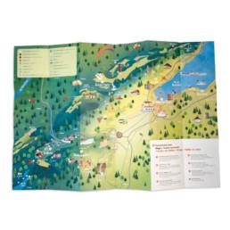 Plan ouvert, illustration en couleurs région nord vaudois