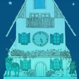 Détail, Illustration, Fête du 1er aout, fête national suisse. E-panel réalisé chez Zaniah.