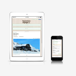 Buvette d'alpage, site internet responsive