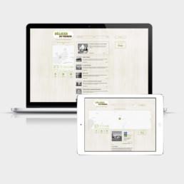 Délices Terroirs, webdesign, responsive design