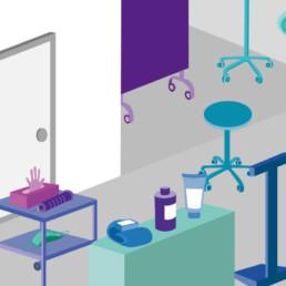 Illustration, cabinet médical, dessin
