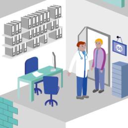 Illustration, cabinet medical